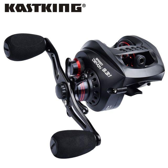 KastKing Speed Demon 9.3:1 super high speed gear ratio Baitcasting Reel 6KG/13.2LB 13BBs Magnetic Brake System Fishing Reel
