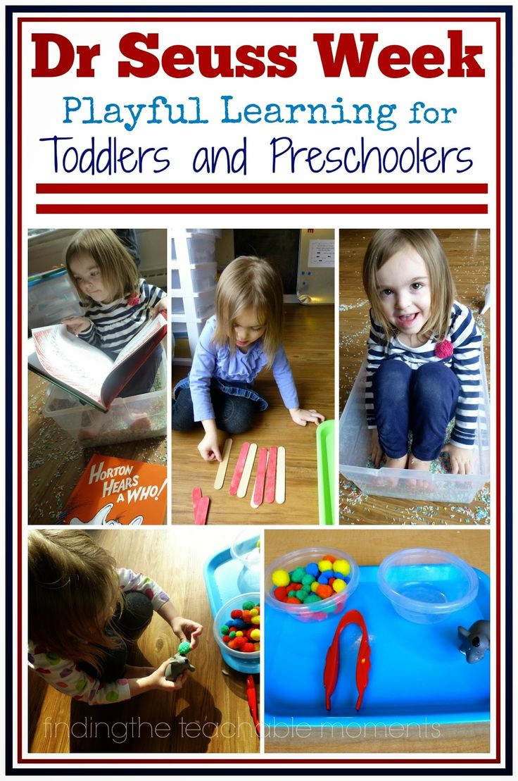 Finding the Teachable Moments: Tot School~ Dr. Seuss Week