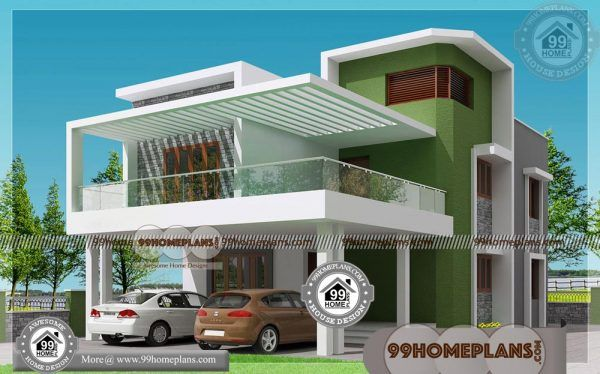 Plan Of Two Storey House With Low Cost Construction House Plans Free House Construction Plan Small Contemporary House Plans House Plans