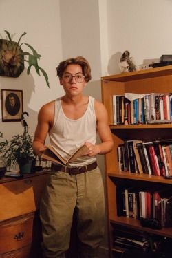 Cole Sprouse dressed as Milo James Thatch from Atlantis: The Lost Empire.