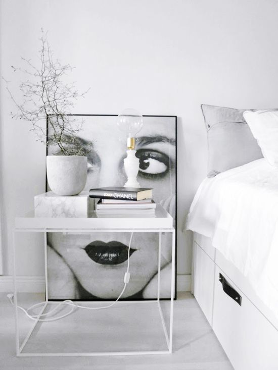 Arty minimal thecoveteur interiors pinterest minimal for Minimalist bedroom pinterest
