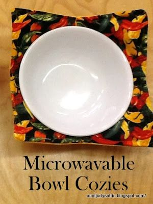 Microwavable Bowl Cozies Tutorial