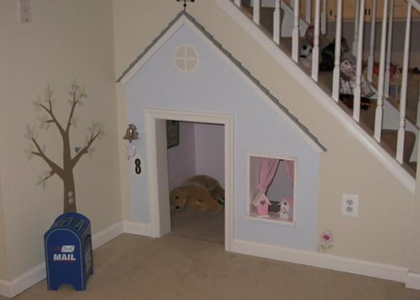 This WILL happen if ever we have a house with stairs - if not for the kids, a place for me to hide! for outside book nook