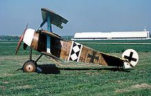 Flyable reproduction of a Fokker Dr.I triplane aircraft of World War I