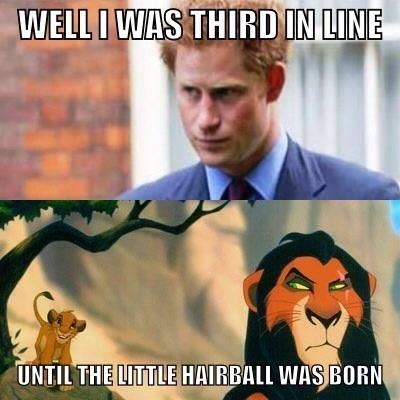 Hahaha!  Awww I love Prince Harry.  Prolly the only Ginger I do love.  On another note: Grats, Wills and Kate on your new Little One.