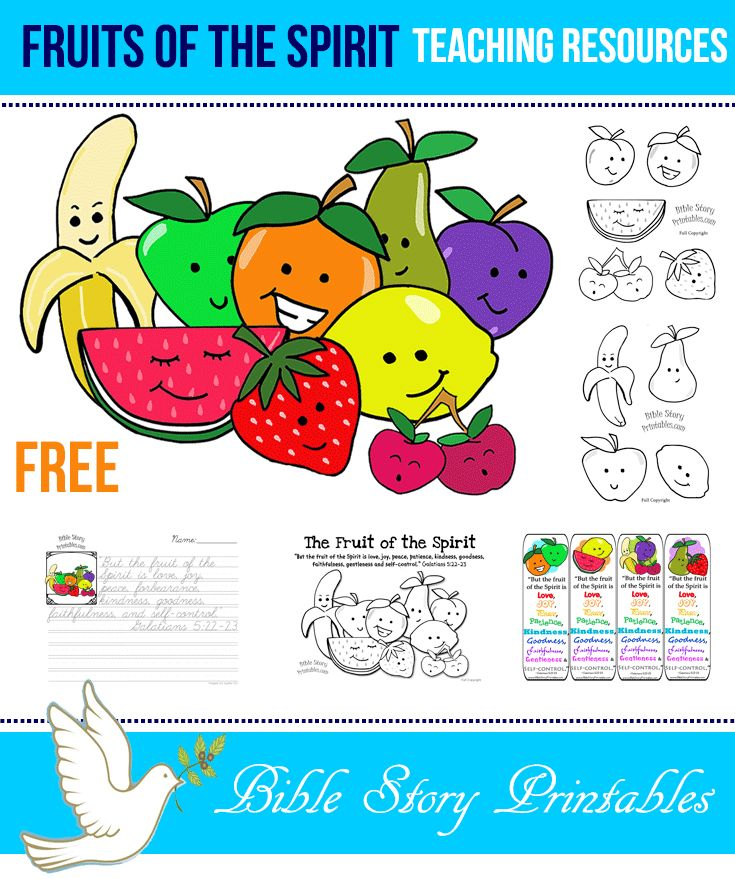 Fruit Of The Spirit Printables Teaching Resources Coloring Pages Copywork Bookmarks