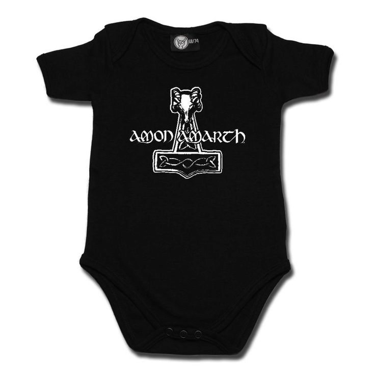 Amon Amarth Thors Hammer Baby Bodysuit