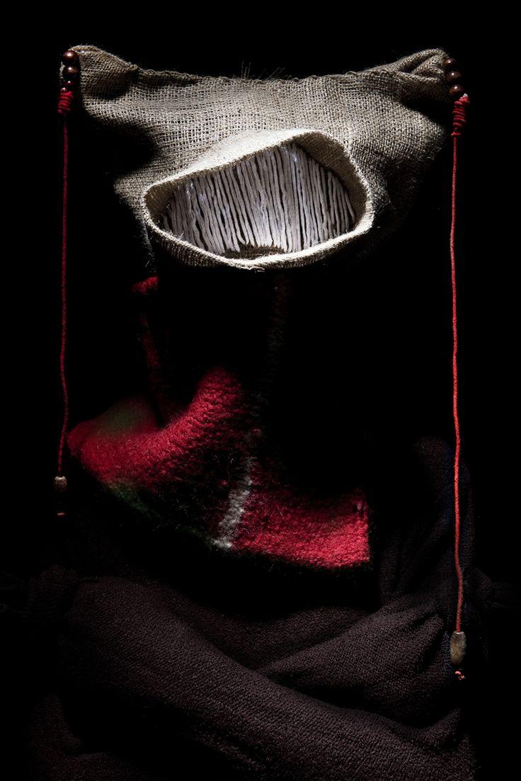 Handmade jute mask