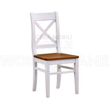 Białe krzesło drewniane - idealne do zacisza domu i restauracji które cenią sobie wytrzymałość.