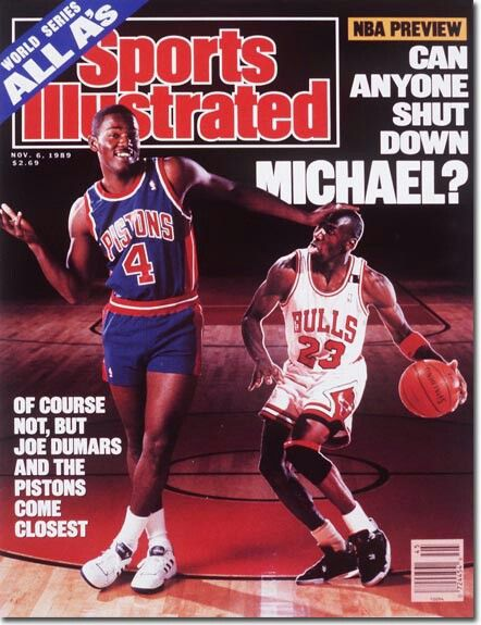 Joe Dumars (Detroit Pistons) and Michael Jordan