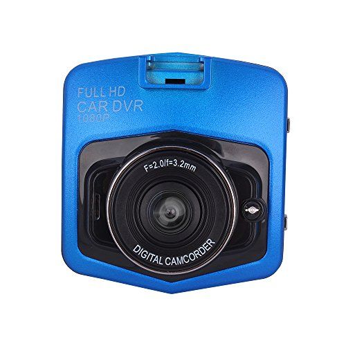 Lecmal Full HD 1080P Car DVR Dash Cam Motion Detection Loop Recording Night Vision Recorder On-dash Drive Recorder Vehicle Camera Video Recorder with G-sensor TF Card Supported - Blue