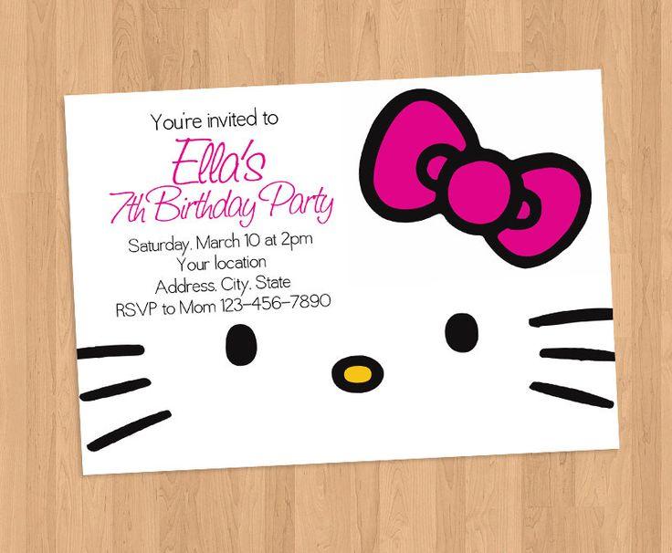 Best 20 Hello Kitty Invitations ideas – Hello Kitty Birthday Party Ideas Invitations