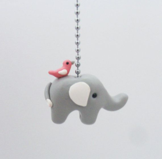 18 best unique ceiling fan pulls images on pinterest ceiling fan elephant fan pull chain pink white and gray by thimbletowne 1350 aloadofball Gallery