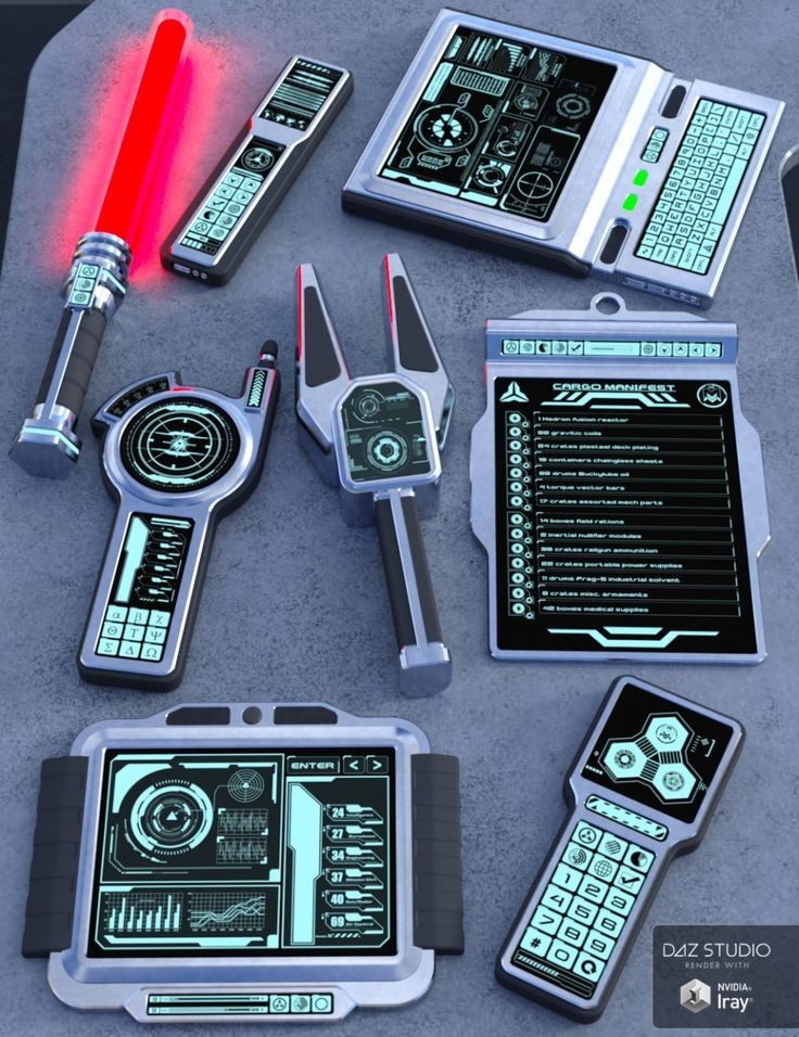 I't seems to be like sci-fi instruments that are used for constructing and fixing objects wit…