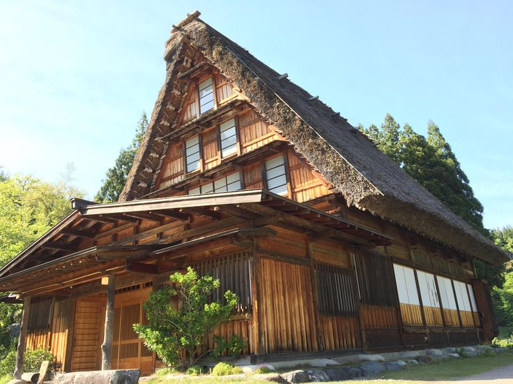 Aesthetic architecture in Shirakawa-go. Taken last golden week bet its more gorgeous now with snow covering its roof.