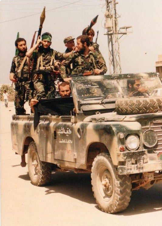 Amal milicia during lebanese civil war.
