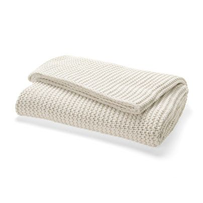 Can picture myself curled up with the Jumbo Moss Stitch Throw in Creme on our window seat.