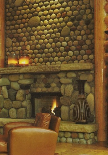 http://fashion6677.blogspot.com - 100 upcycling ideas!: Fireplaces Warmth, Stones Fireplaces, Dreams, Rocks Wall, Rivers Rocks, Amazing Fireplaces, Rocks Fireplaces, Rocks Style, Wood Stoves