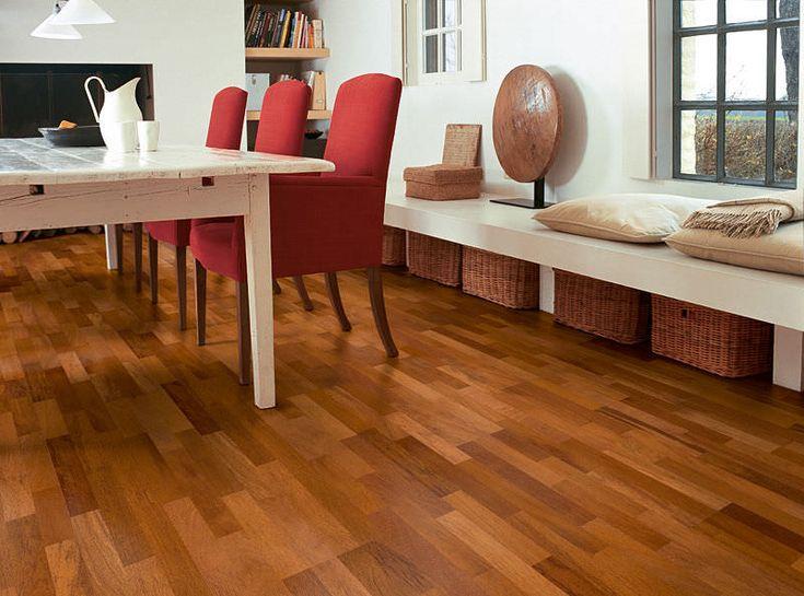 Quick Step Villa Merbau Satin 3 Strip Hardwood Floors