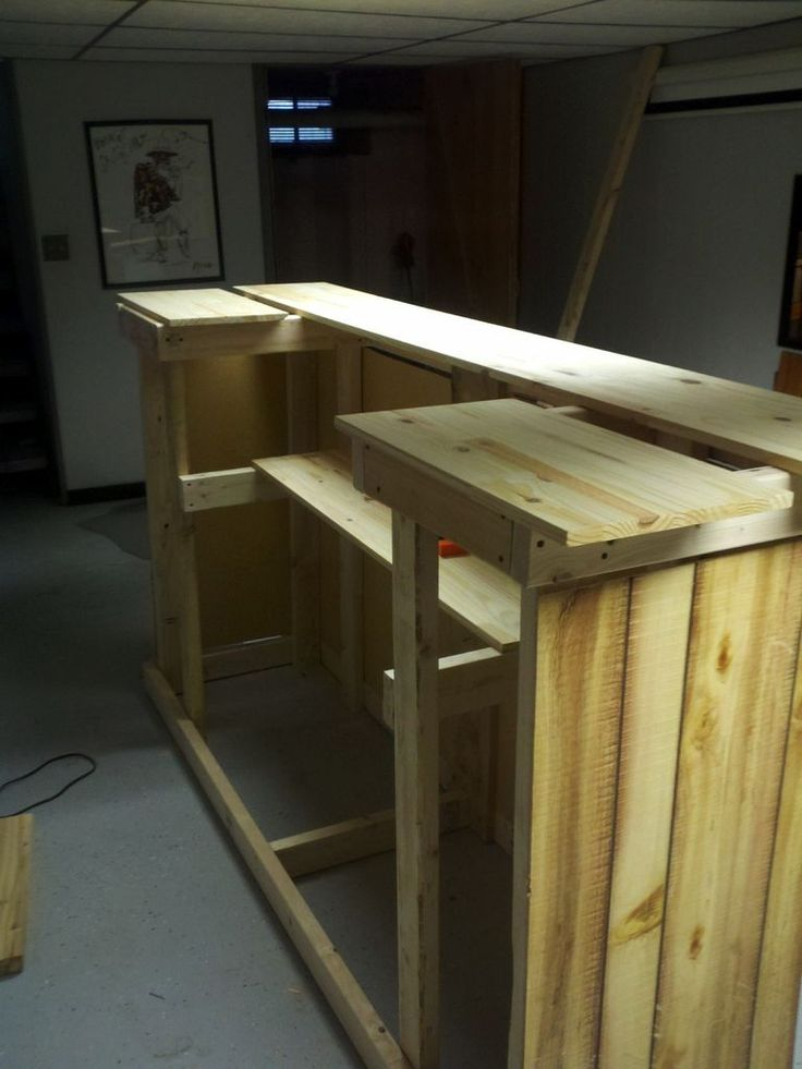 Build Your Own Man Cave Furniture : My first home bar build basements and men cave