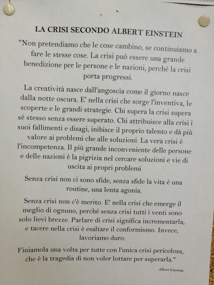 #einstein e la crisi