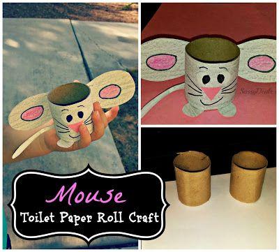 Easy Mouse Toilet Paper Roll Craft For Kids - Sassy Dealz, recycle, elementary school, primary school, knutselen, kinderen, kleuters, basisschool, muis van wc-rol, toiletpapier rol