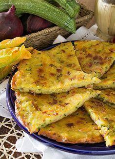 Schiacciata di patate, zucchine e prosciutto http://blog.giallozafferano.it/graficareincucina/schiacciata-di-patate-zucchine-e-prosciutto/
