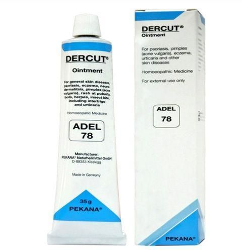 Adel 78 Dercut ointment for Eczema, Psoriasis, Urticaria