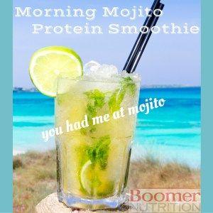Morning Mojito protein smoothie