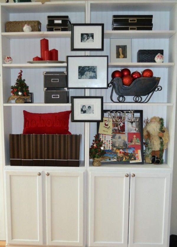 36 best christmas bookcase decor ideas images on pinterest