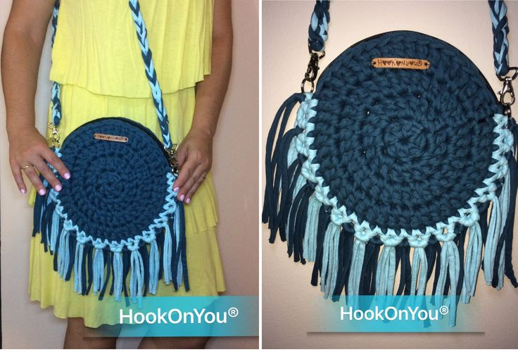 This beautiful Boho cotton t-shirt yarn clutch it fills my eyes!  Amazing summer colors and  with zipper! LOVE IT! ❤️ To purchase/info contact me  #hookonyou #handmade #bohobag #tshirtyarn #summercolors #nofilter