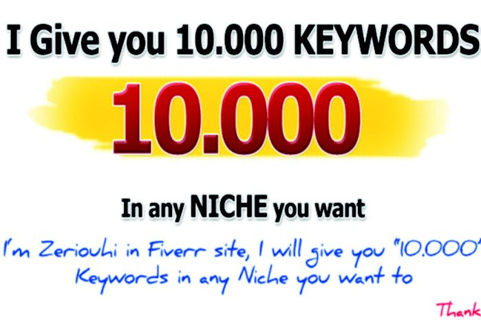 riulaki: give you Use Your Words get keywords for any niche for $5, on fiverr.com