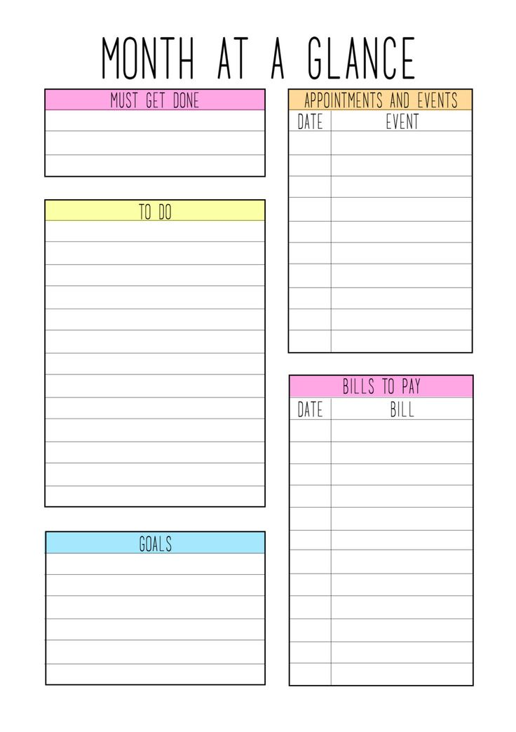 89 Best Printable »» To-Do, Checklist, Charts, Weekly/Monthly