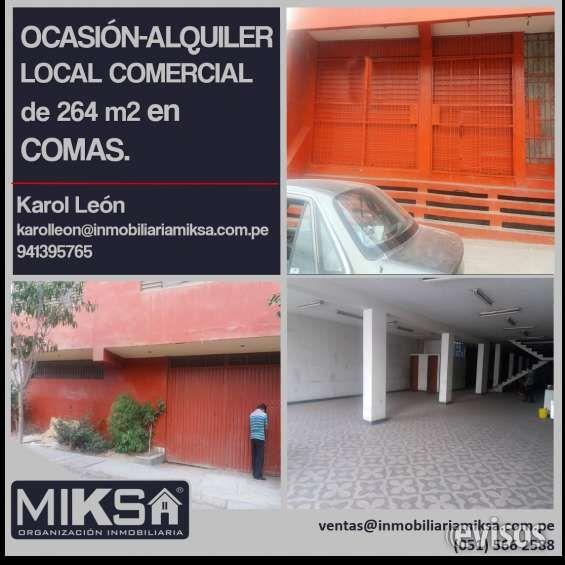 OCASIÓN - ALQUILER DE LOCAL COMERCIAL - COMAS. Amplio local comercial ubicado en la concurrida avenida Túpac Amaru en Comas. Incluye un piso ... http://lima-city.evisos.com.pe/ocasia-n-alquiler-de-local-comercial-comas-id-650216