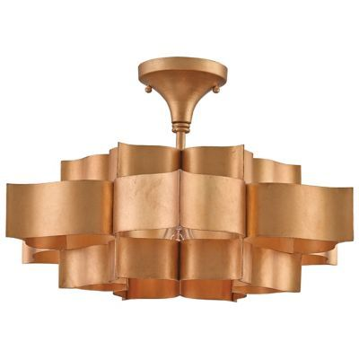 Grand Lotus Semi Flushmount/Pendant by Currey