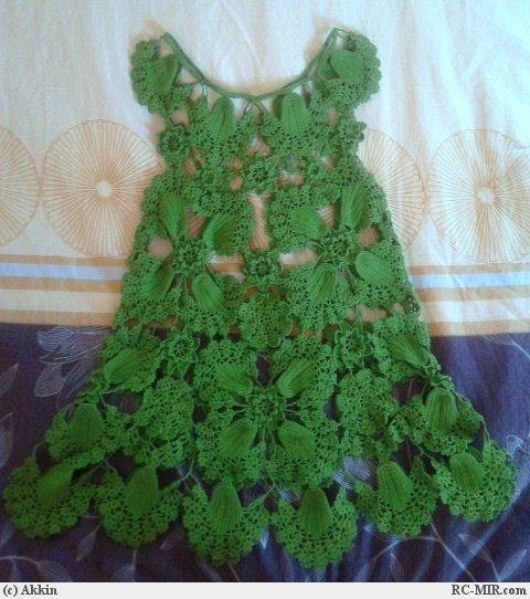 TRICO и CROCHET-Мадонна-шахтное: Платья женские Crochet российские модели