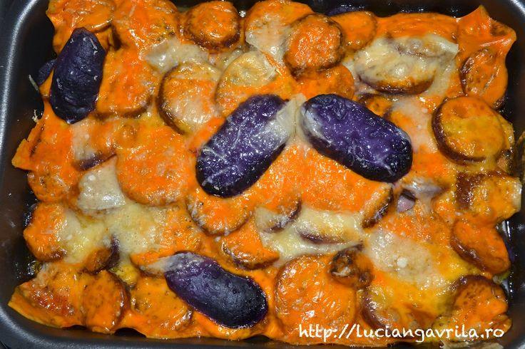 Cartofi mov - quatre fromages