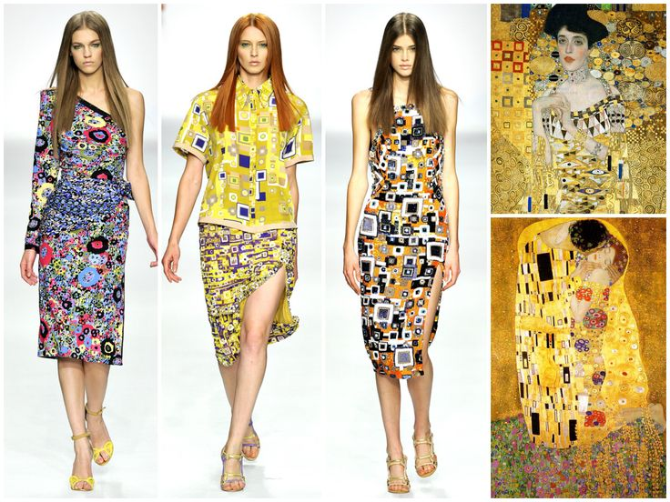 Aquilano Rimondi, Gustav Klimt, The Kiss, Gold, Would totally wear the first and third one :)