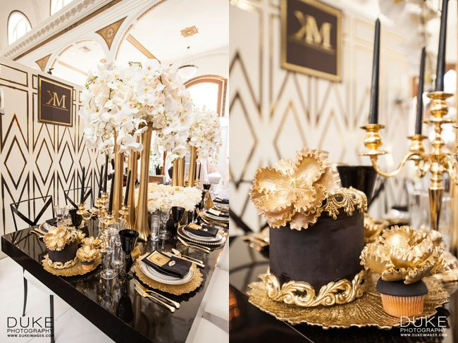 Black And Gold Wedding Centerpieces Images - Wedding Decoration Ideas