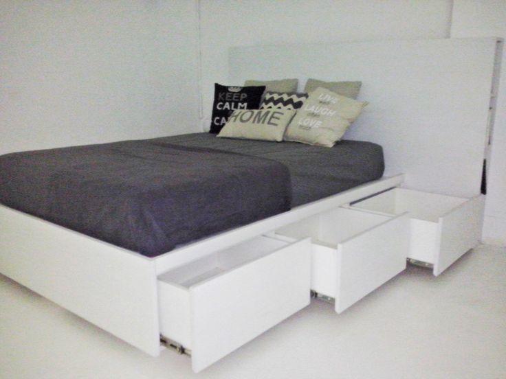 As 25 melhores ideias de cama cajonera no pinterest base cama madera camas con cajones debajo - Cajonera bajo cama ...