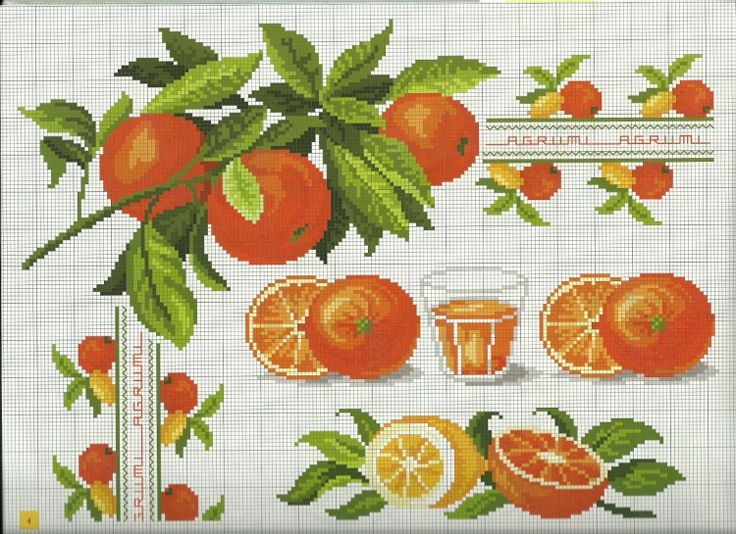 Gallery.ru / Фото #4 - Frutta e verdura a punto croce - Mosca