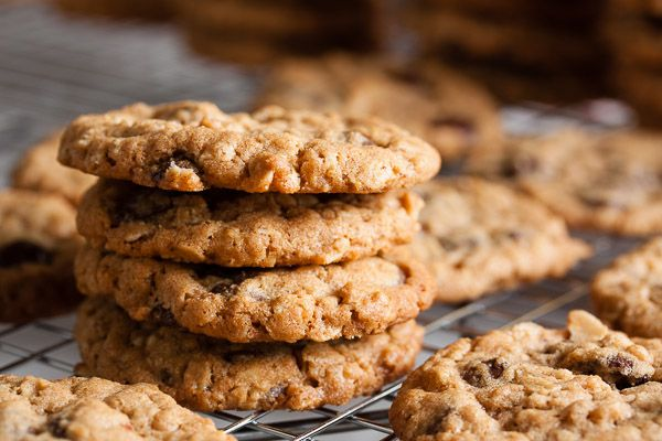peanut butter oatmeal chocolate chip cookiesThese come from Dori Greenspan's