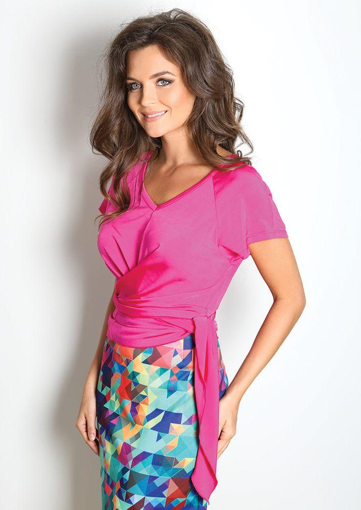 Блузки и джемпера : Розовая блузка TopDesign А7 033