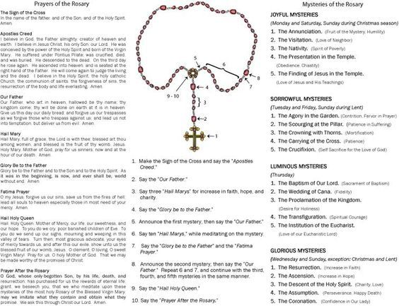 picture about How to Pray the Rosary Printable referred to as How in the direction of Pray Rosary Prayer Our religion Professing the rosary