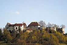 Lenzburg Castle - Wikipedia  View of the castle from the north