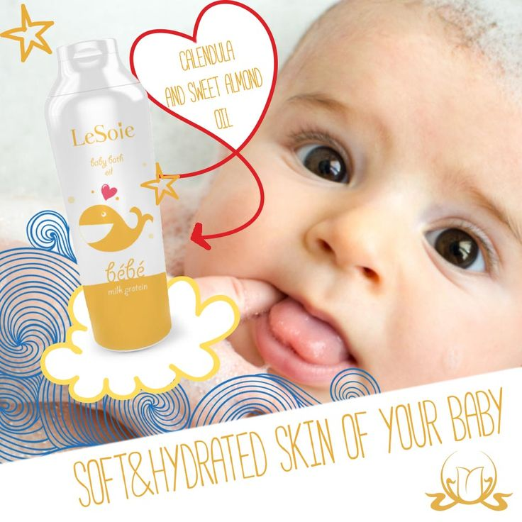 For your joyful baths from the very beginning.  Specially formulated for daily use, from your very first days.  Cleanses, nourishes and protects the skin thanks to vegetable oils, like sweet almond oil, soybean oil and calendula extract.  Strengthens and preserves the delicate baby's skin without dehydrating effect, leaving your baby's skin, soft and supple.  #babycare #skincare #naturalcosmetics #LeSoie