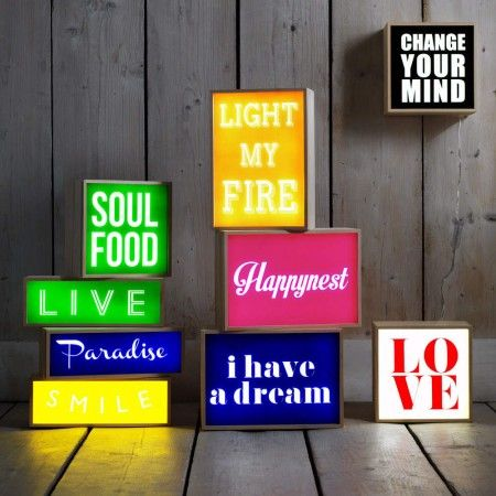 Retro Lightboxes - Prints & Wall Art - Wall & Floors - Home Accessories