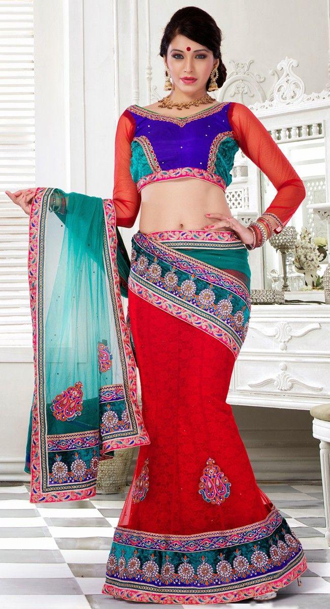 Exquisite Red Lehenga Choli