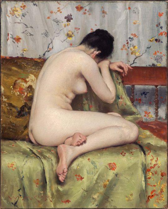 A Modern Magdalen - William Merritt Chase, ca 1888