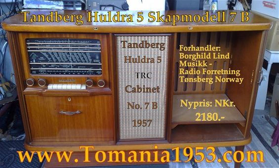 Tandberg Huldra 5 Radiocabinet Model 7 B